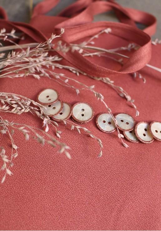 Tissu crêpe Terracotta - Atelier Brunette