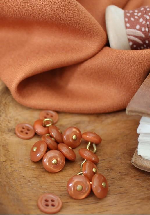 Tissu crêpe chestnut - Atelier Brunette