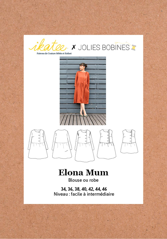 Patron Blouse/robe Elona - Ikatee