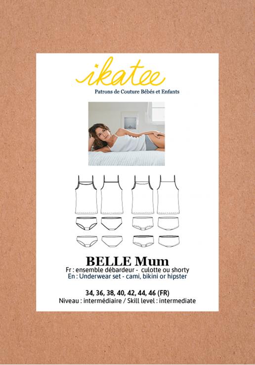 Patron ensemble lingerie Belle - Ikatee