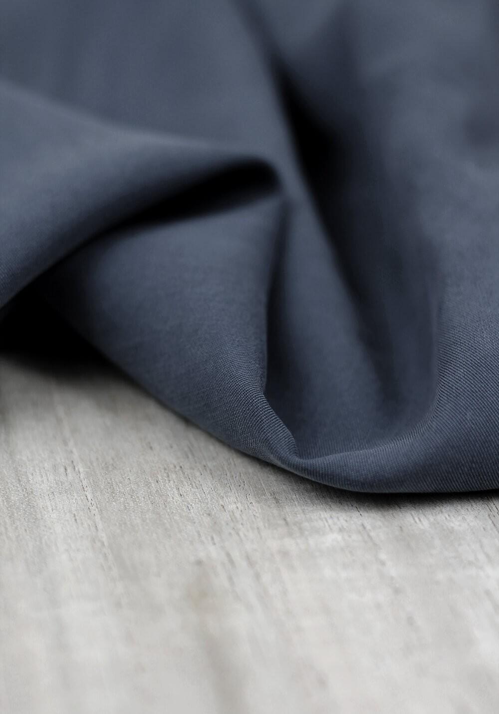 Tissu tencel - Bleu orage