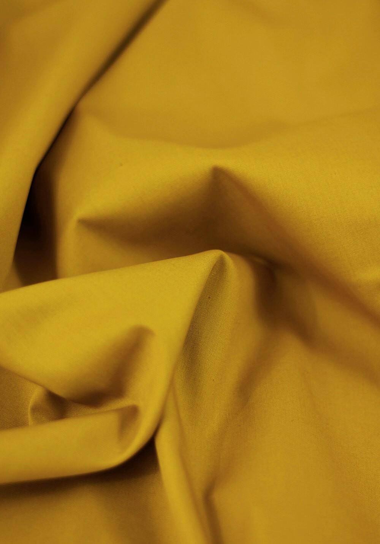 Tissu popeline - Moutarde
