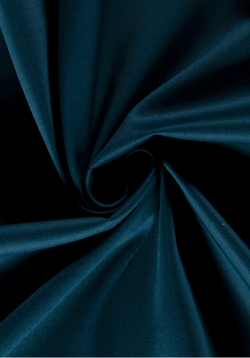 Tissu gabardine stretch - Bleu pétrole