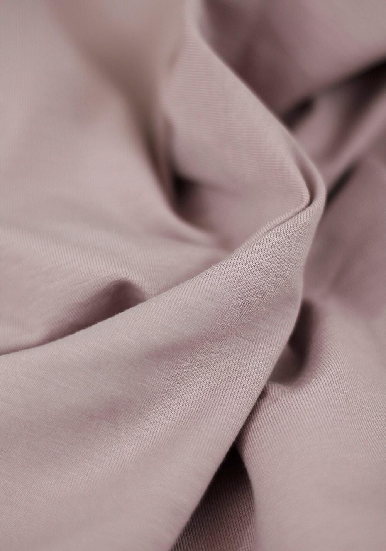 Tissu Jersey Bambou - Rose poudré