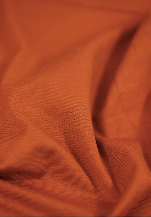 Tissu Jersey Bambou - Terracotta