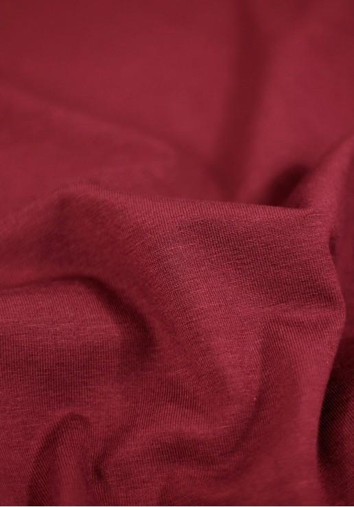 Tissu Jersey Bambou - Bordeaux