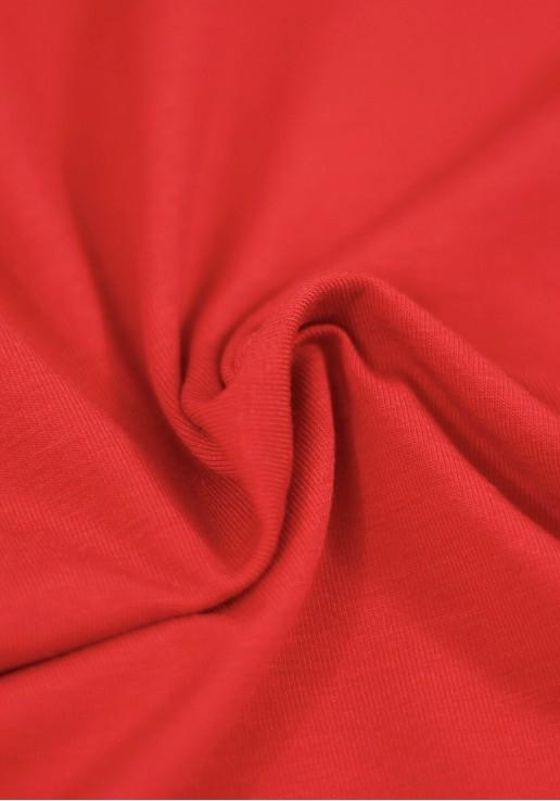 Tissu Jersey Bambou - Rouge