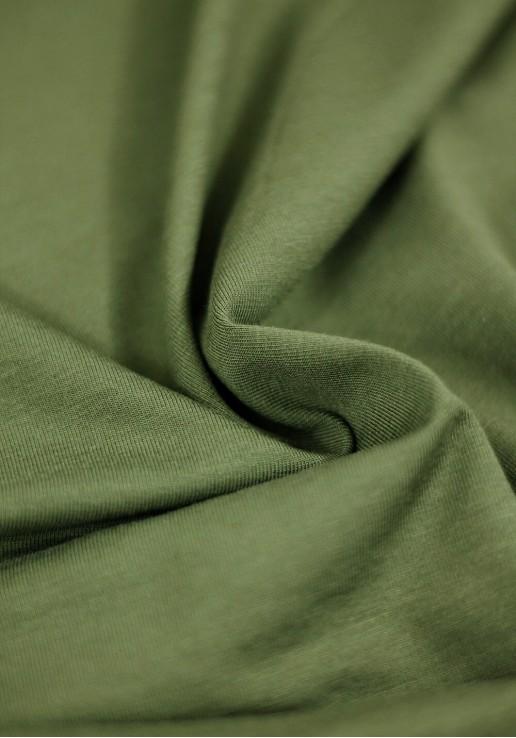 Tissu Jersey Bambou - Kaki