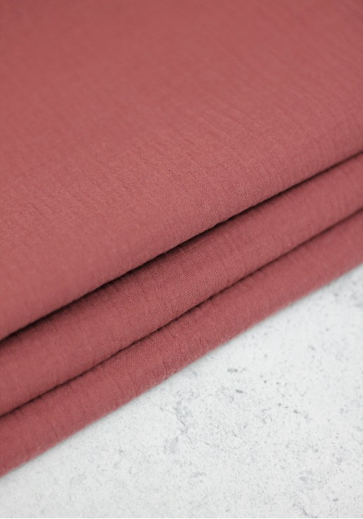 Tissu double gaze - Marsala