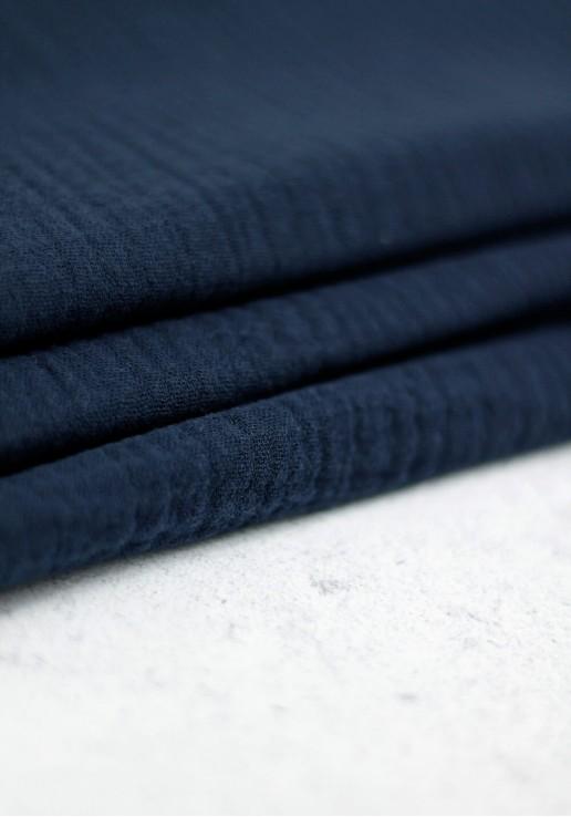 Tissu double gaze - Bleu marine
