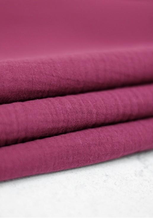 Tissu double gaze - Prunelle