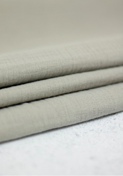 Tissu double gaze - Smoke Grey