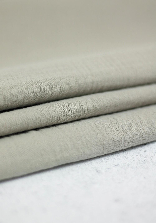 Tissu double gaze - Smoke Grey