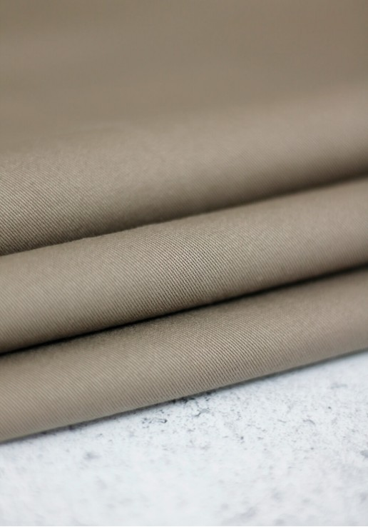 Tissu gabardine stretch - Taupe