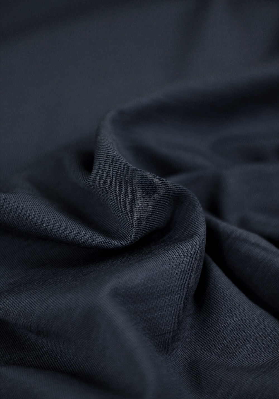 Tissu Jersey Bambou - Bleu marine