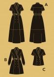 Patron robe Passiflore