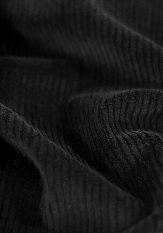 Tissu velours moyenne côtes stretch - Noir