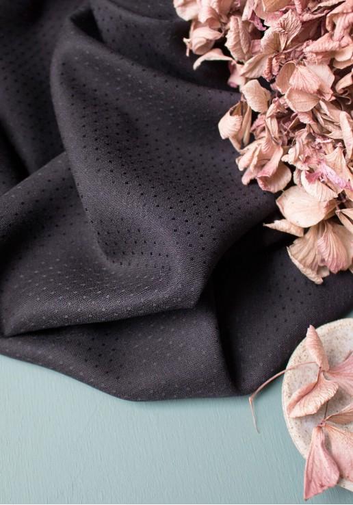 Tissu Viscose Dobby Black - Atelier Brunette