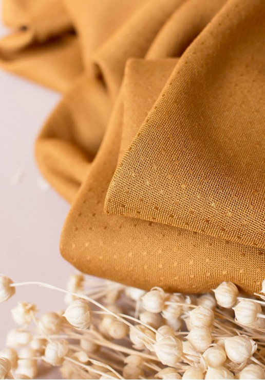 Tissu Viscose Dobby Ochre - Atelier Brunette