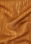 Tissu viscose à fines rayures lurex - Mustard