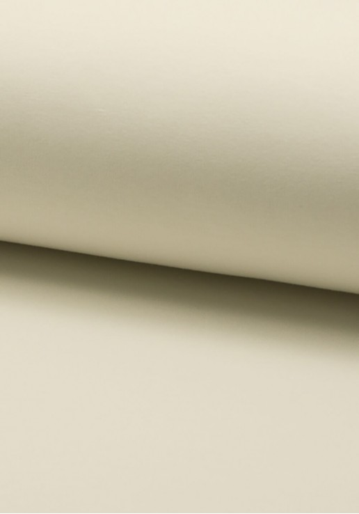 Tissu Molleton Fin - Écru