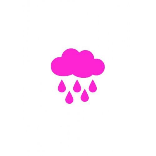 Motif thermocollant nuage et gouttes