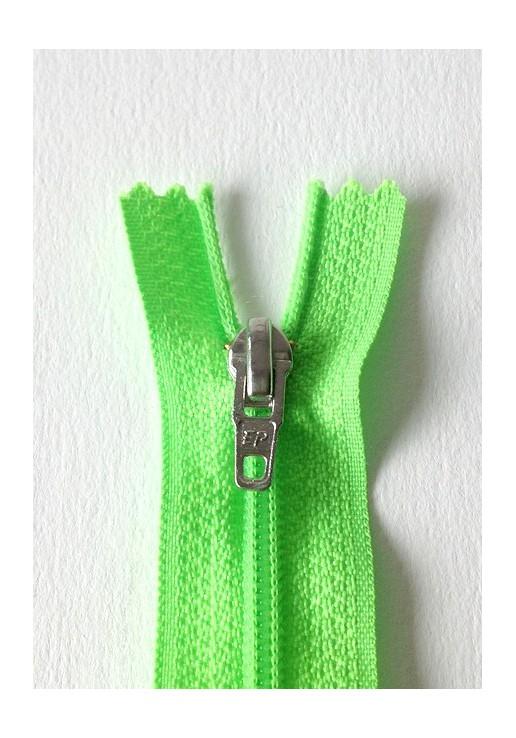 Fermeture éclair non séparable *vert fluo*