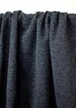 Tissu molleton à paillettes argent - Bleu marine