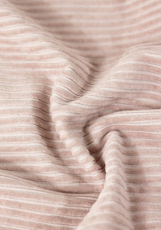Tissu jersey de velours côtelé - Rose blush