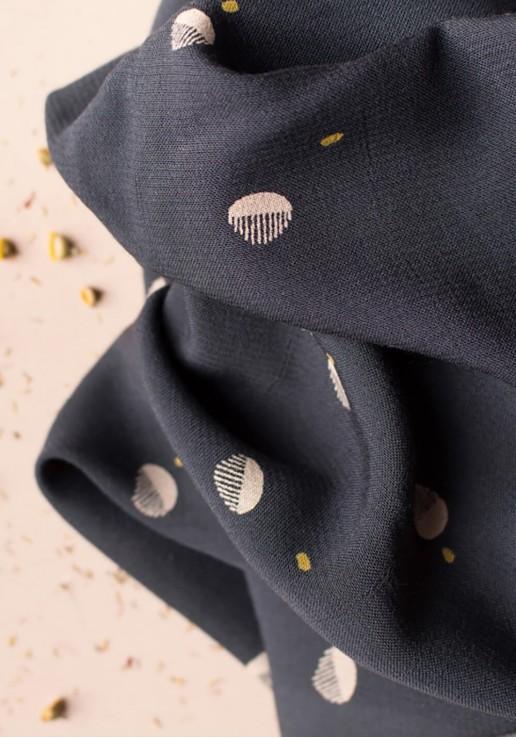 Tissu crêpe de viscose Seed Night - Atelier Brunette