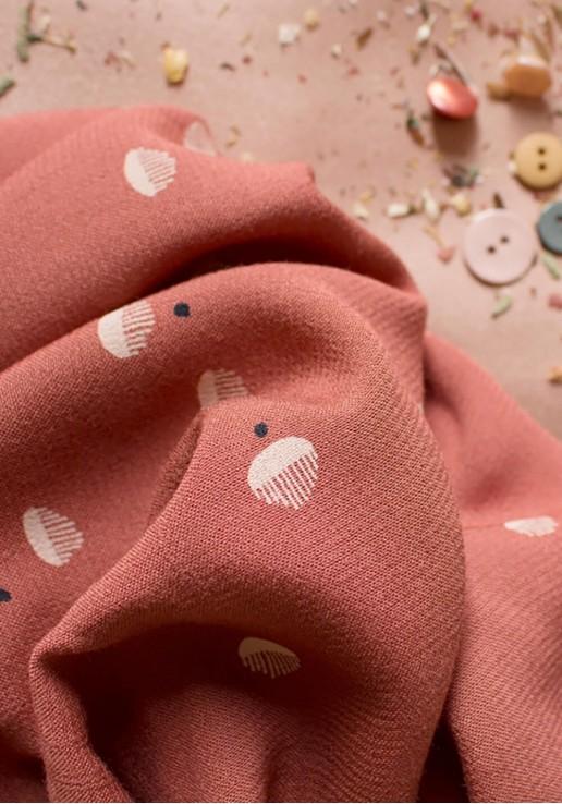 Tissu crêpe de viscose Seed Chestnut - Atelier Brunette