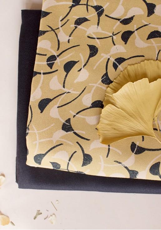 Tissu viscose Windy Mustard - Atelier Brunette