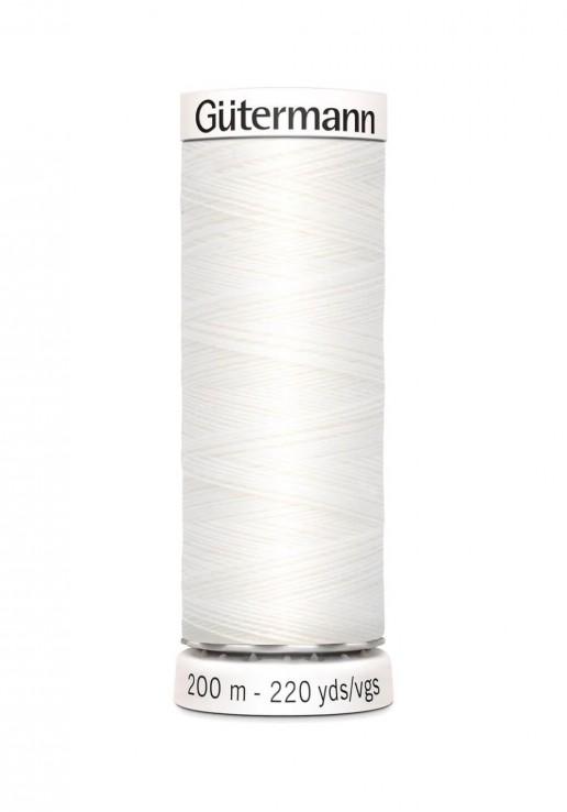 Fil à coudre 200m - 800 Blanc - Gutermann Polyester