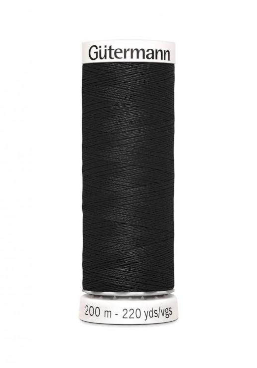 Fil à coudre 200m - 000 Noir - Gutermann Polyester