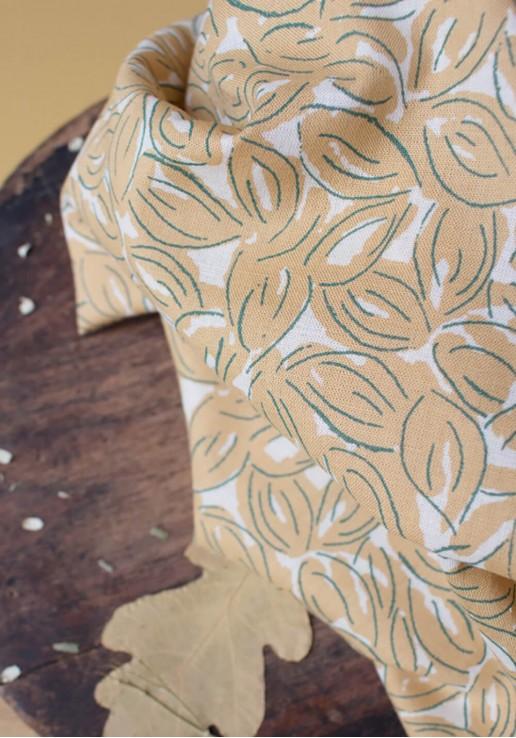 Tissu Gaze de Coton Petal Mustard - Atelier Brunette