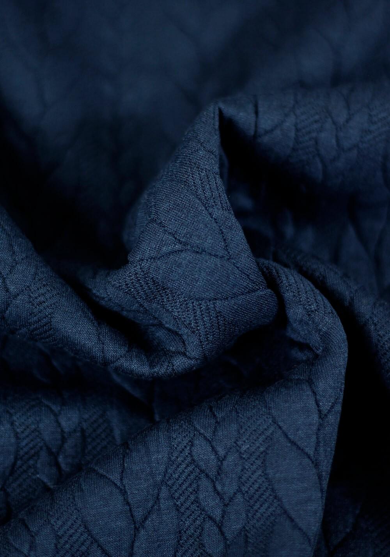Tissu sweat torsades - Bleu marine