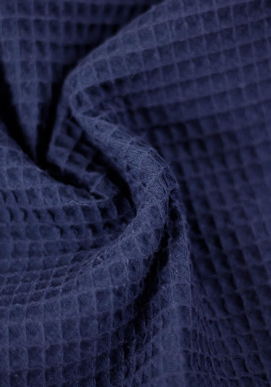 Tissu nid d'abeille en coton - Bleu marine