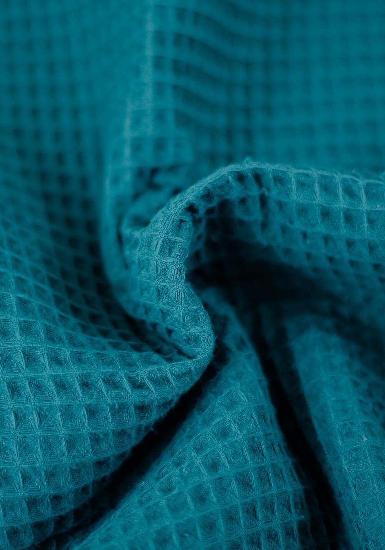 Tissu nid d'abeille en coton - Canard