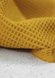 Tissu nid d'abeille en coton - Curcuma