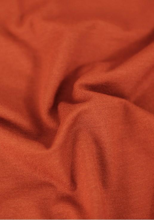 Tissu jersey viscose - Rouille