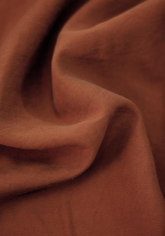 Tissu viscose texturé - Sienne