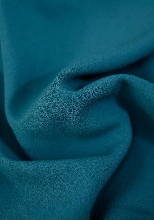 Tissu crêpe lourd - Bleu Canard