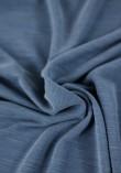 Tissu jersey modal flammé - Copen Blue