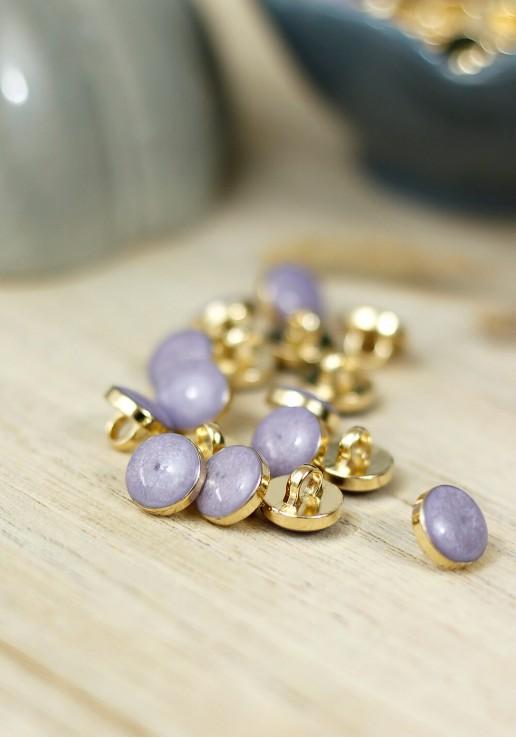 Bouton Amber Gold - Lilac