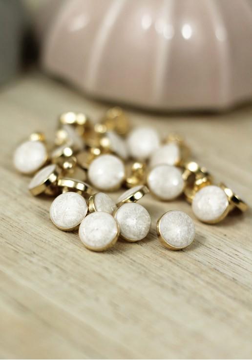 Bouton Amber Gold - Ivory