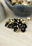 Bouton Amber Gold - Black