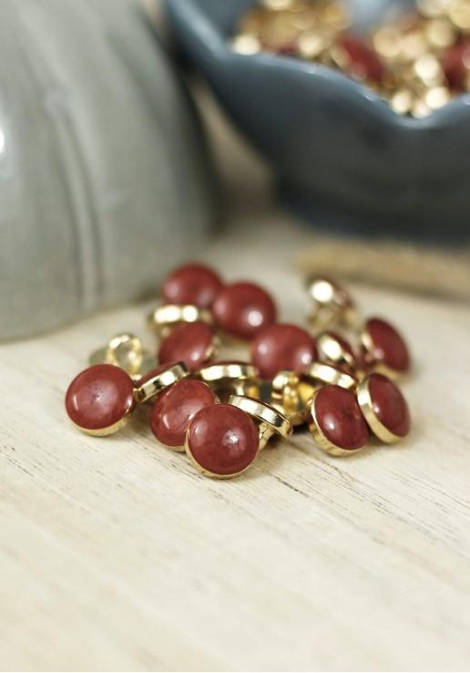 Bouton Amber Gold - Rust