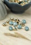 Bouton Amber Gold - Stone Blue