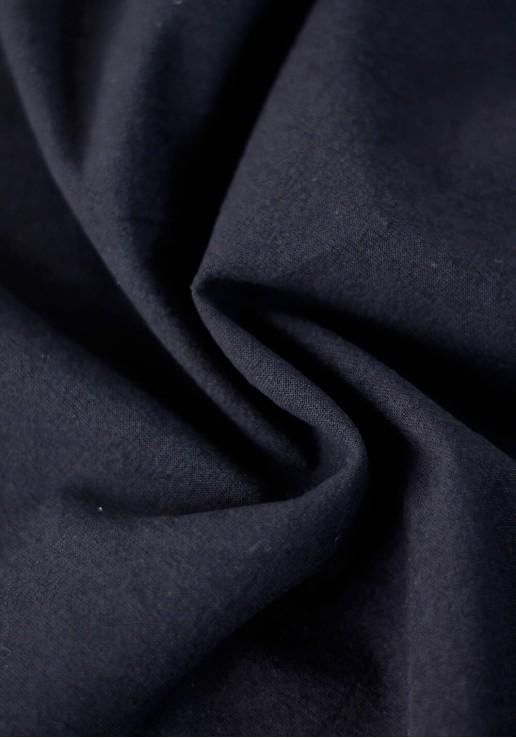 Tissu coton lavé - Bleu marine
