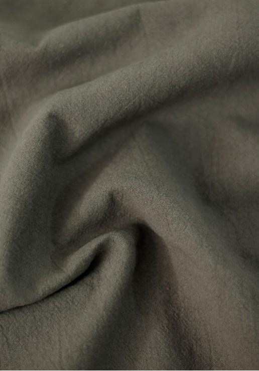Tissu coton lavé - Kaki